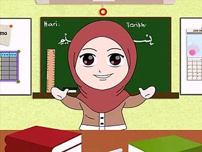 57 Gambar Animasi Guru Muslimah Mengajar Terpopuler